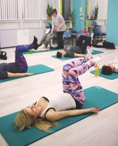 Pilates class in Sian's studio